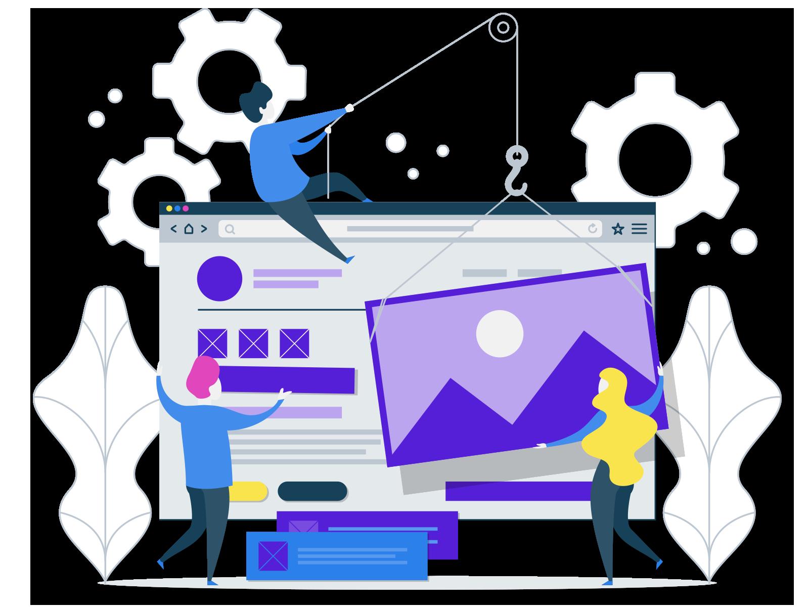 Website Development and Design Website Development and Design layout